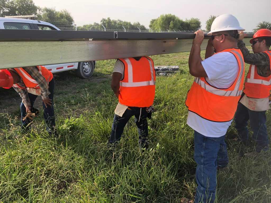 Greyco Personnel providing racking installation.
